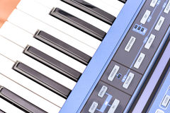 Parts of synth keyboards Royalty Free Stock Image