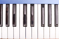 Parts of synth keyboards Royalty Free Stock Photography