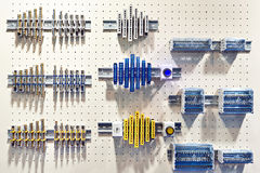 Parts terminal for electrical installation in store Stock Photo