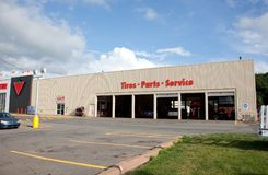 Parts and Tires Department Canadian Tire Royalty Free Stock Images