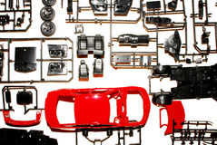 Parts to a model car Stock Photography