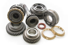 Parts of Transmission. Spare parts from the transmission of the car Royalty Free Stock Image