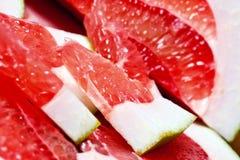 Parts of tropical fruit of grapefruit. Stock Photos