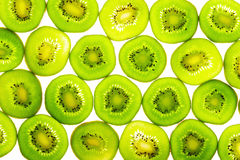 Parts vertes de kiwi Photographie stock