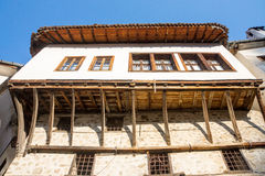 Parts and wooden architecture of Melnik, Bulgaria Royalty Free Stock Photography