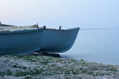 Parts of wooden fishing boats Royalty Free Stock Photo