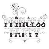 Party公主字法 库存图片