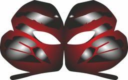 Party ícones da máscara, logotipo para o conceito móvel e apps da Web Ilustração Stock