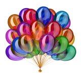 Party лоснистое воздушных шаров multicolor, пук воздушного шара праздника красочный Стоковые Фото