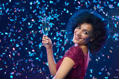 Party, пить, праздники и концепция торжества Стоковые Изображения RF