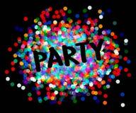 Party плакат Стоковые Изображения RF