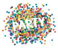 Party плакат Стоковые Изображения