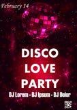 Party шаблон плаката вектора с sparkles и ярким блеском, световым эффектом зарева Стоковые Фотографии RF