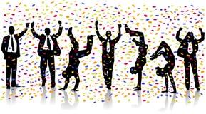 Party. Confetti, corporate crowd, dance Stock Image