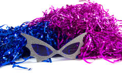 Party on!. A pair of party glasses with decoration Royalty Free Stock Photo
