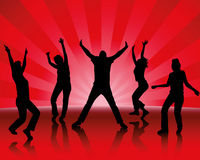 Party. Young dancing people have fun Royalty Free Stock Image
