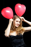 Party. Young elegant woman in party and celebration mood Stock Images