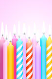 Party. Candles in a funny and happy party Royalty Free Stock Photo