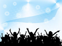 Party. Dance party on blue background royalty free illustration