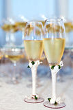 Party. Two glasses of champagne at a celebration Stock Image
