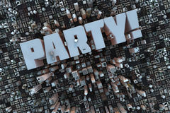 Party in a 3D city Royalty Free Stock Image