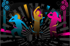 Party. Teenage people enjoying the nightlife stock illustration