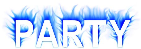Party. Abstract word with white background Stock Photo