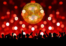 Party. Lights flashing, the crowd with dance music Stock Illustration