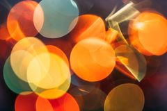 Party abstract bokeh light background, blurred round circles royalty free stock photo