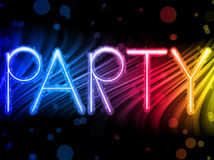 Party Abstract Colorful Waves royalty free illustration