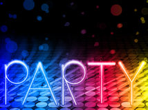 Party Abstract Colorful Waves Background royalty free illustration