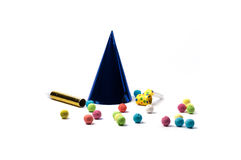 Party accessories. For New Year Eve, birthday party Royalty Free Stock Photos