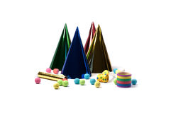 Party accessories. For New Year Eve, birthday party Stock Photography