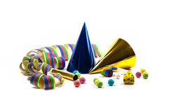 Party accessories. For New Year Eve, birthday party Stock Images