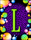Party alphabet - L Royalty Free Stock Image