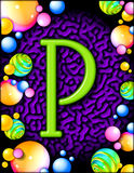 Party alphabet - P Royalty Free Stock Image