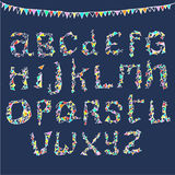 Party alphabet. Alphabet a-z in party style Stock Photography