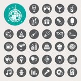 Party And Celebration Icon Set. Stock Images
