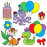 Party animals collection. Vector illustration Stock Images