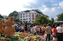 Party atmosphere at TET-festivities in Ho Chi Minh City (Saigon) Royalty Free Stock Photography