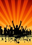 Party Audience. Large group of people cheering Royalty Free Stock Photo