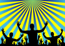 Party audience cheering, vector background Royalty Free Stock Image