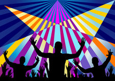 Party audience crown background Stock Image