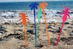 Party auf dem Strand Stockbild
