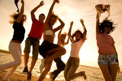 Party auf Strand Lizenzfreies Stockbild
