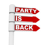 Party is back Royalty Free Stock Photo