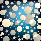 Party background. With shiny stars and circles royalty free illustration