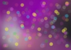 Party Background. Violet Party Background with Blurred Color Lights stock illustration