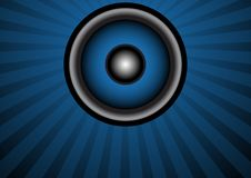 Party Background. Loudspeaker And Dark Blue Strips / Vector Stock Photos