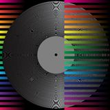 Party Background. Abstract Background - Vintage Vinyl Record on Multicolor Background / Vector stock illustration